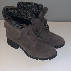 Lucky Brand leather combat boots 8